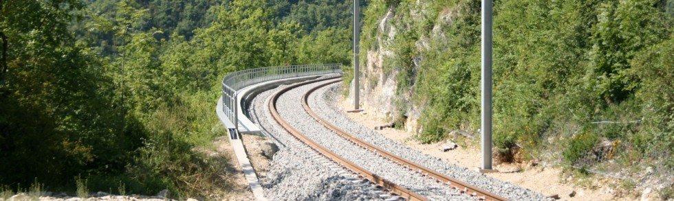 rail line concrete sleepers